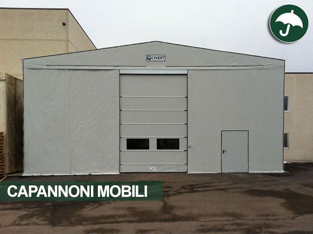 Capannoni mobili tunnel mobili su misura coperture pvc for Capannoni in legno prezzi