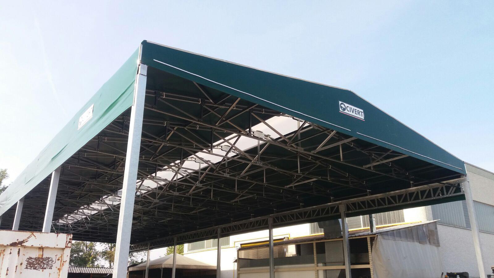 tettoie per esterno industriali