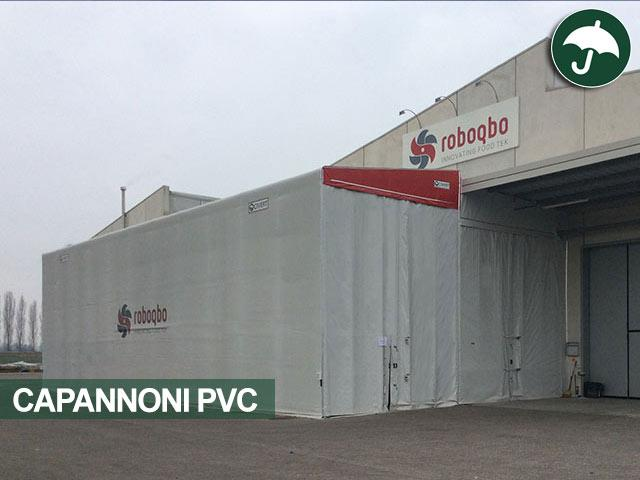 capannoni pvc a monopendenza laterale Civert per il centro italia