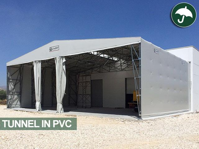 tunnel mobili in pvc