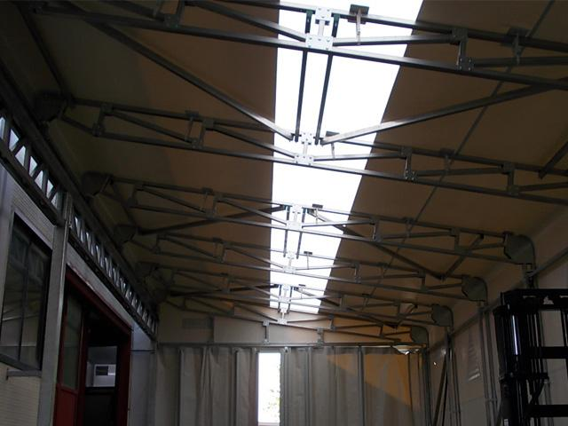 capannoni mobili fascia luminosa