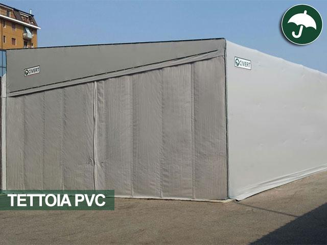 tettoie pvc adiacenti a fabbricati